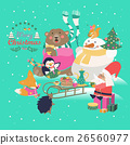 vector, christmas, celebrating 26560977