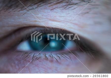 man eyes macro photo 26561860