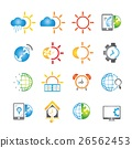 weather icons, clock icons 26562453