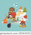vector, christmas, celebrating 26563035