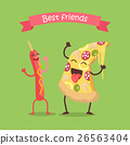 Best Friends Sausage on Stick and Pizza Dancing. 26563404