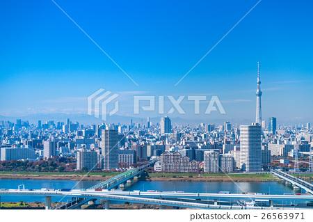 【도쿄】 스카이 트리 도시 풍경 26563971