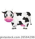 奶牛 向量 向量圖 26564296