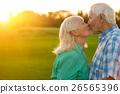 Senior couple is kissing. 26565396