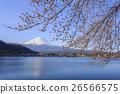 富士山 山 开花 26566575