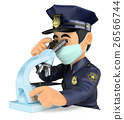 3D Scientific police analyzing forensic evidence 26566744