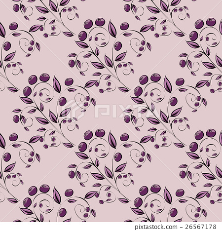 Abstract Berries seamless pattern.  26567178