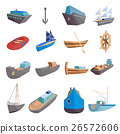 Sea transport icons set, cartoon style 26572606