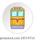 Train locomotive icon, cartoon style 26574714