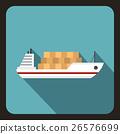 cargo ship vector 26576699
