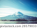 Mt Fuji in with reflection on the lake Kawaguchiko 26579033