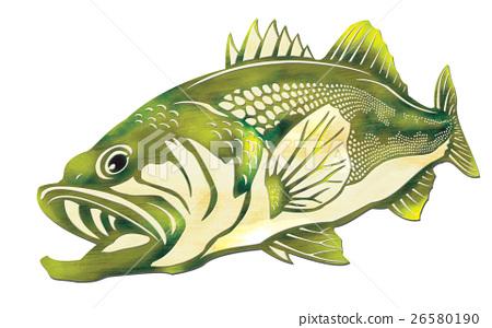 黑鱸 魚 剪貼圖 26580190