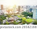 Panoramic city bird eye view in Tokyo, Japan 26582168