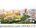 Panoramic city bird eye view in Tokyo, Japan 26582172
