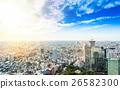 Panoramic city bird eye view in Tokyo, Japan 26582300