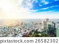 Panoramic city bird eye view in Tokyo, Japan 26582302