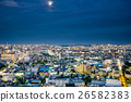 Panoramic city bird eye night view in Tokyo, Japan 26582383