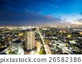 Panoramic city bird eye night view in Tokyo, Japan 26582386
