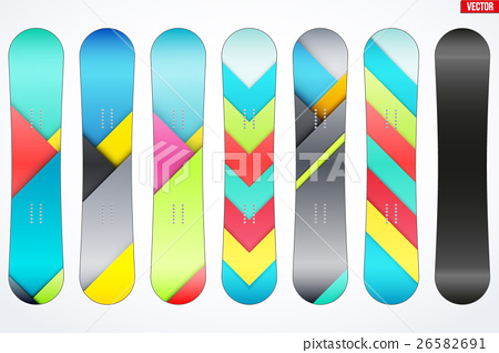 Set of Snowboards sample symbols 26582691