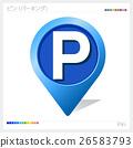 矢量 目的 停车位 26583793