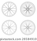 Bicycle spoke wheel tangential lacing pattern 3X 26584910