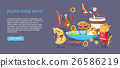 Funny Food Story Conceptual Banner Web Site Design 26586219