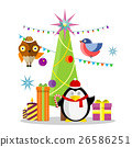 Winter Holidays Vector Concept in Flat Design 26586251