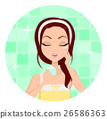 Girl Cleaning and Care Her Face 26586363