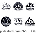 mountain, logo, vector 26588334