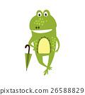 frog, umbrella, green 26588829