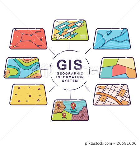 GIS Concept Data Layers for Infographic 26591606