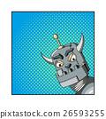 Pop Art illustration of an evil robot 26593255