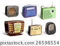 Antique radio set 26596554