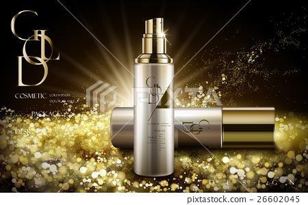 golden cosmetic product 26602045