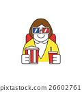 眼鏡 爆米花 年輕人 26602761