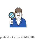 偵探 放大鏡 男性 26602786