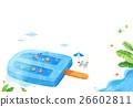 冰淇淋 景色 插圖 26602811