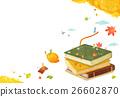 illustration autumn books 26602870