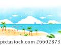 海灘 景色 海 26602873