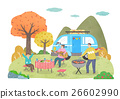 autumn camping family 26602990