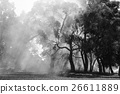 wood burning smoke from Australian bushfire 26611889
