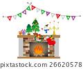 矢量 消防胶靴 圣诞 26620578