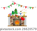 矢量 消防胶靴 圣诞 26620579