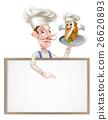 大厨 主厨 烤肉串 26620893