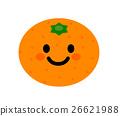 mandarin orange, mikan, face 26621988