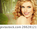 woman, healthy, curly 26628121