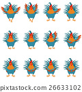 rooster, vector, flat 26633102