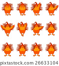 rooster, vector, flat 26633104