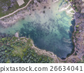 Blue laggon see from above in old sand mine,Poland 26634041