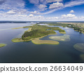 View of small islands on the lake in Masuria 26634049